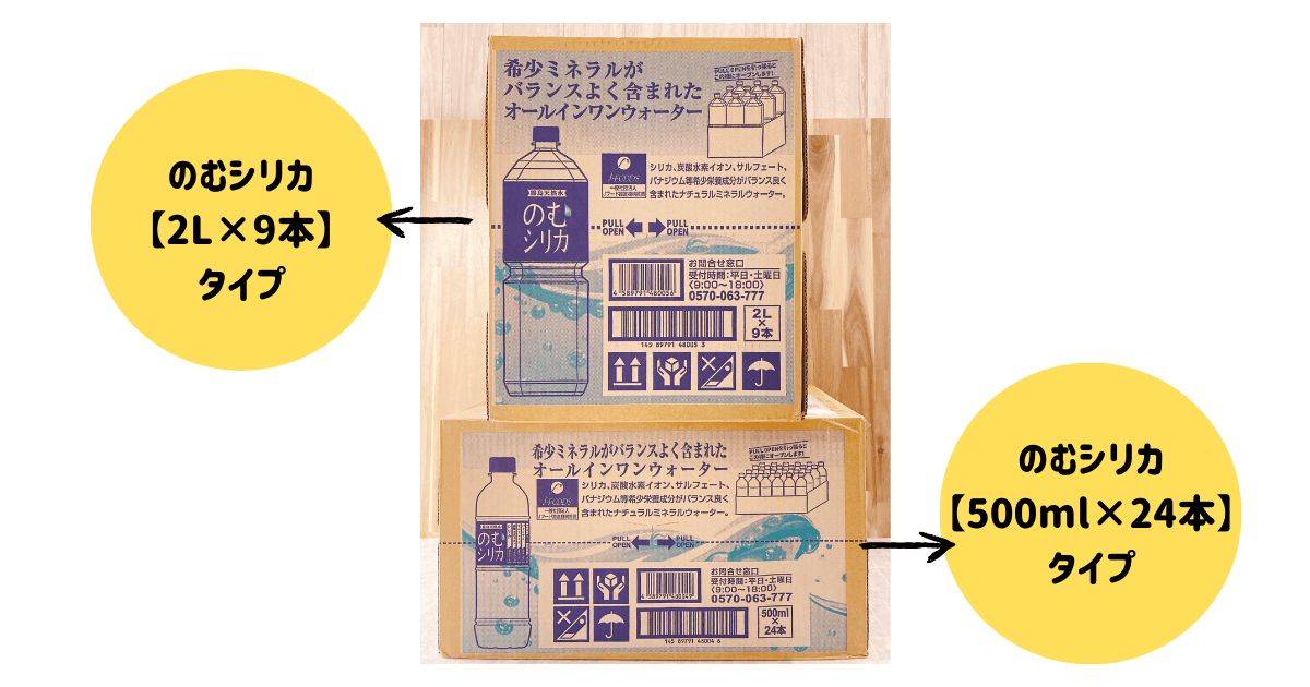 のむシリカ2箱の比較