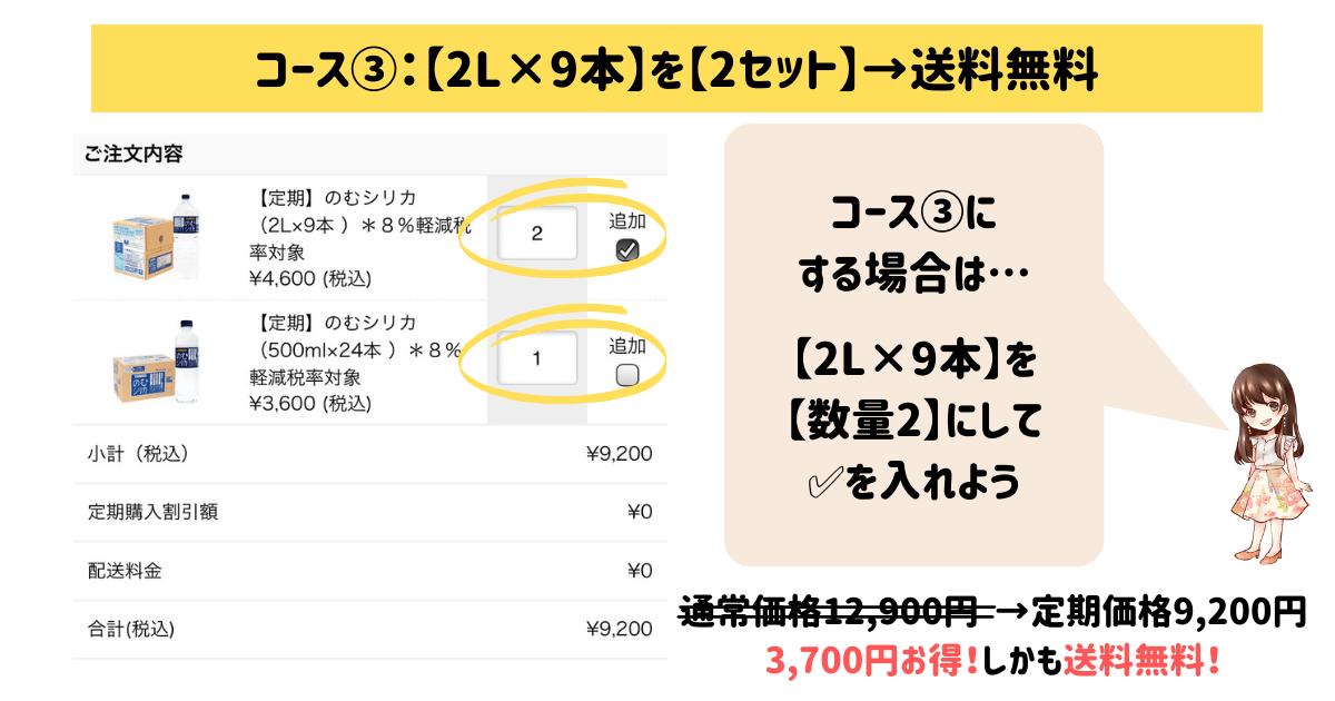 のむシリカ定期コース③