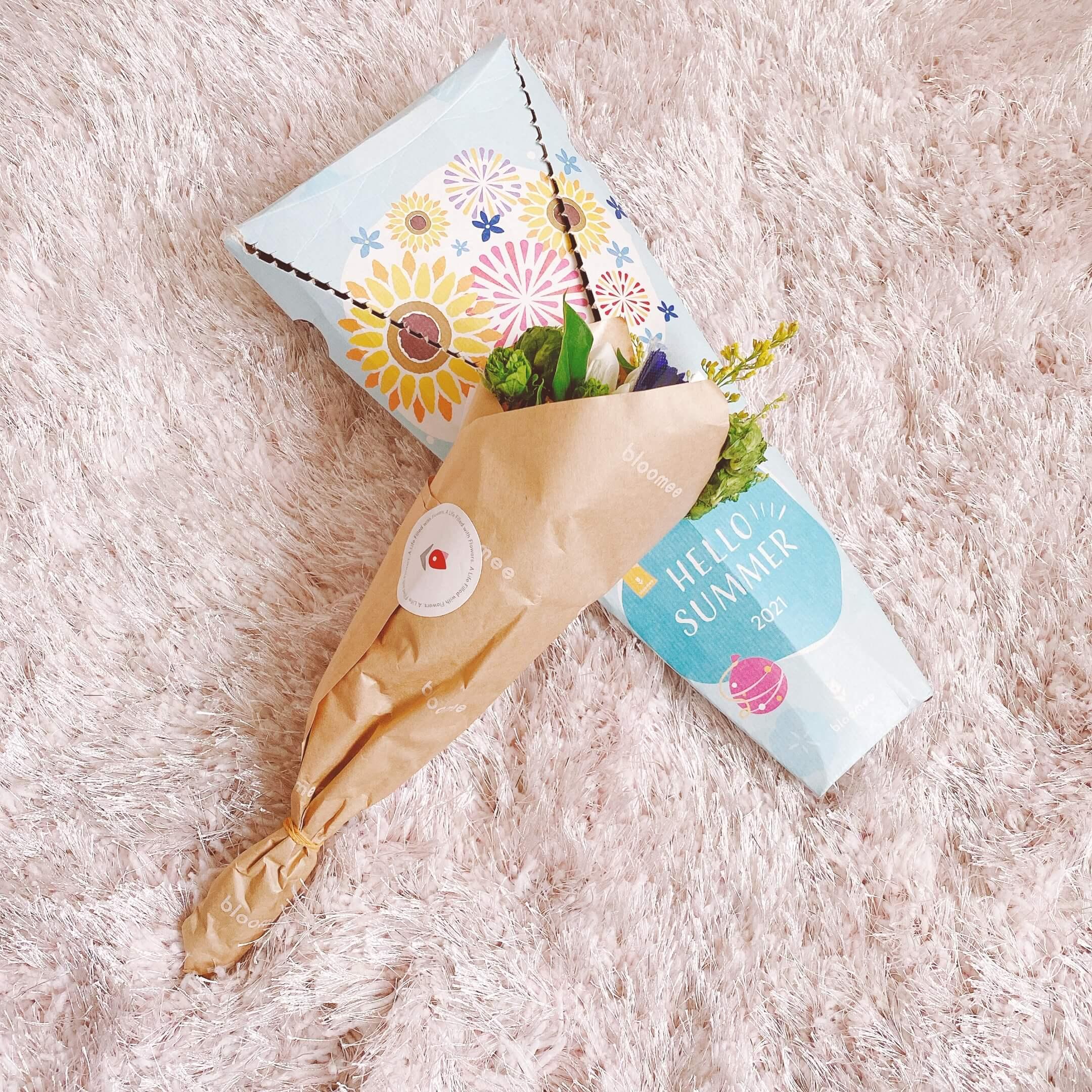 ブルーミーサマーボックスで届いたお花