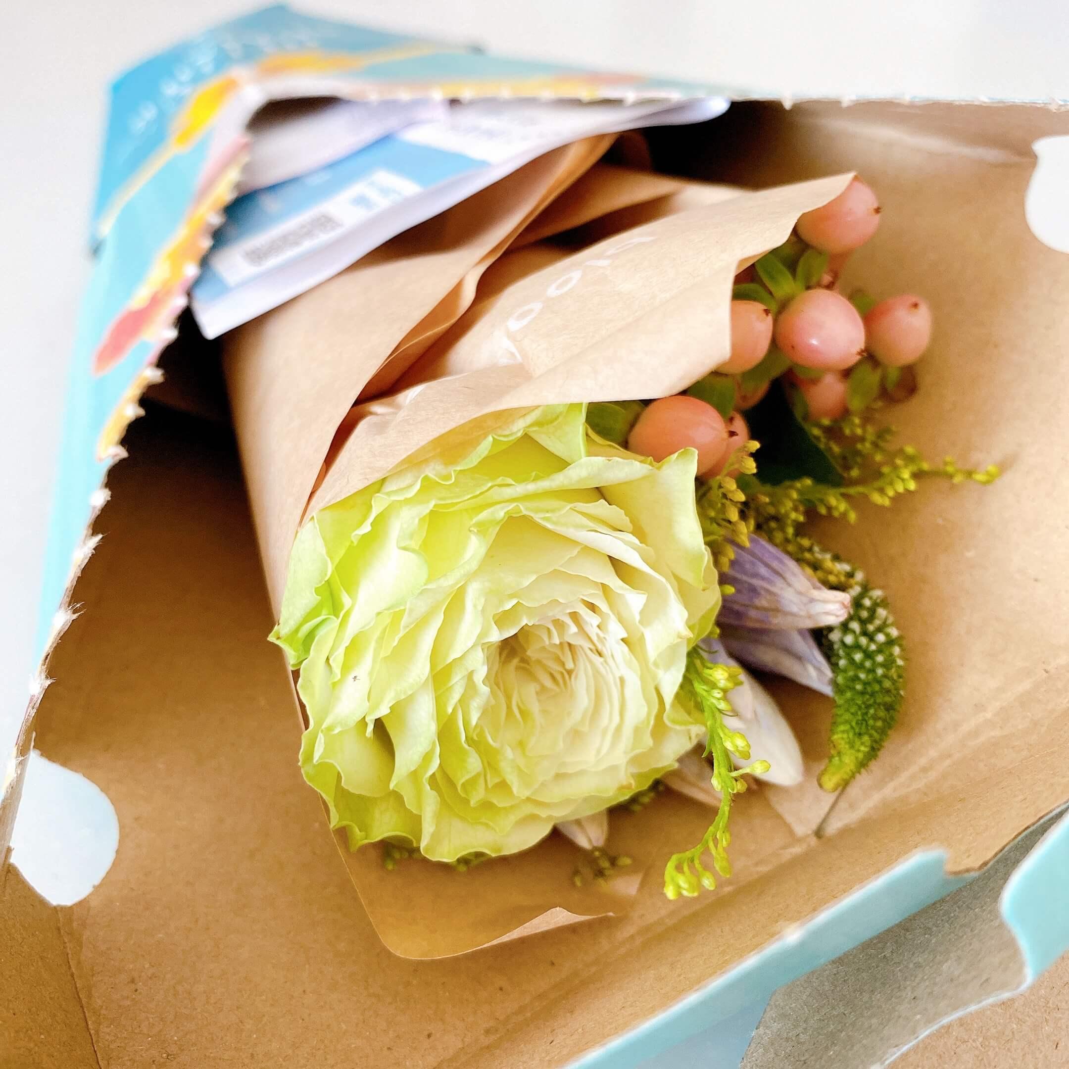 ブルーミーレギュラープランで届いたお花の様子
