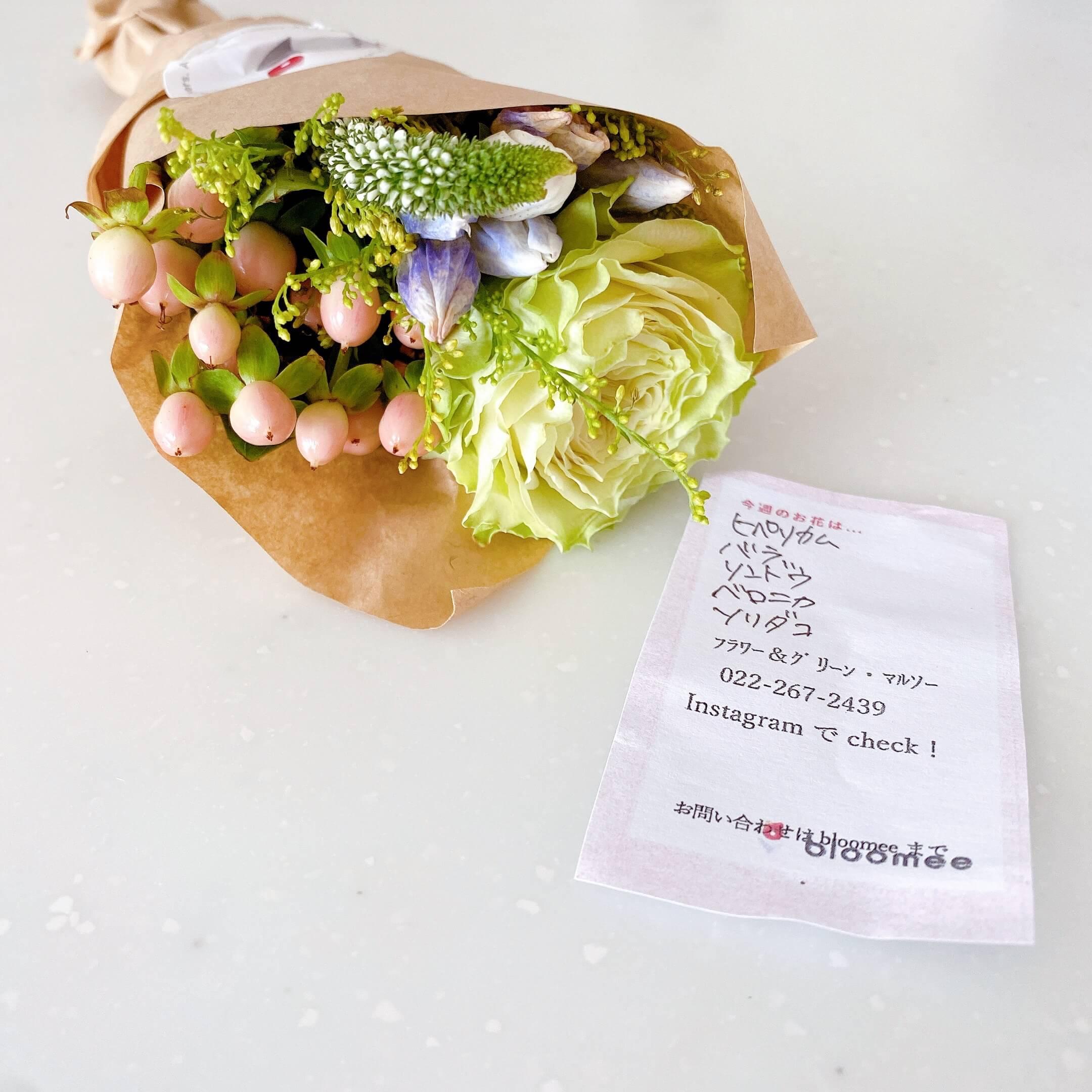 ブルーミーレギュラープランで届いたお花の種類説明メモ