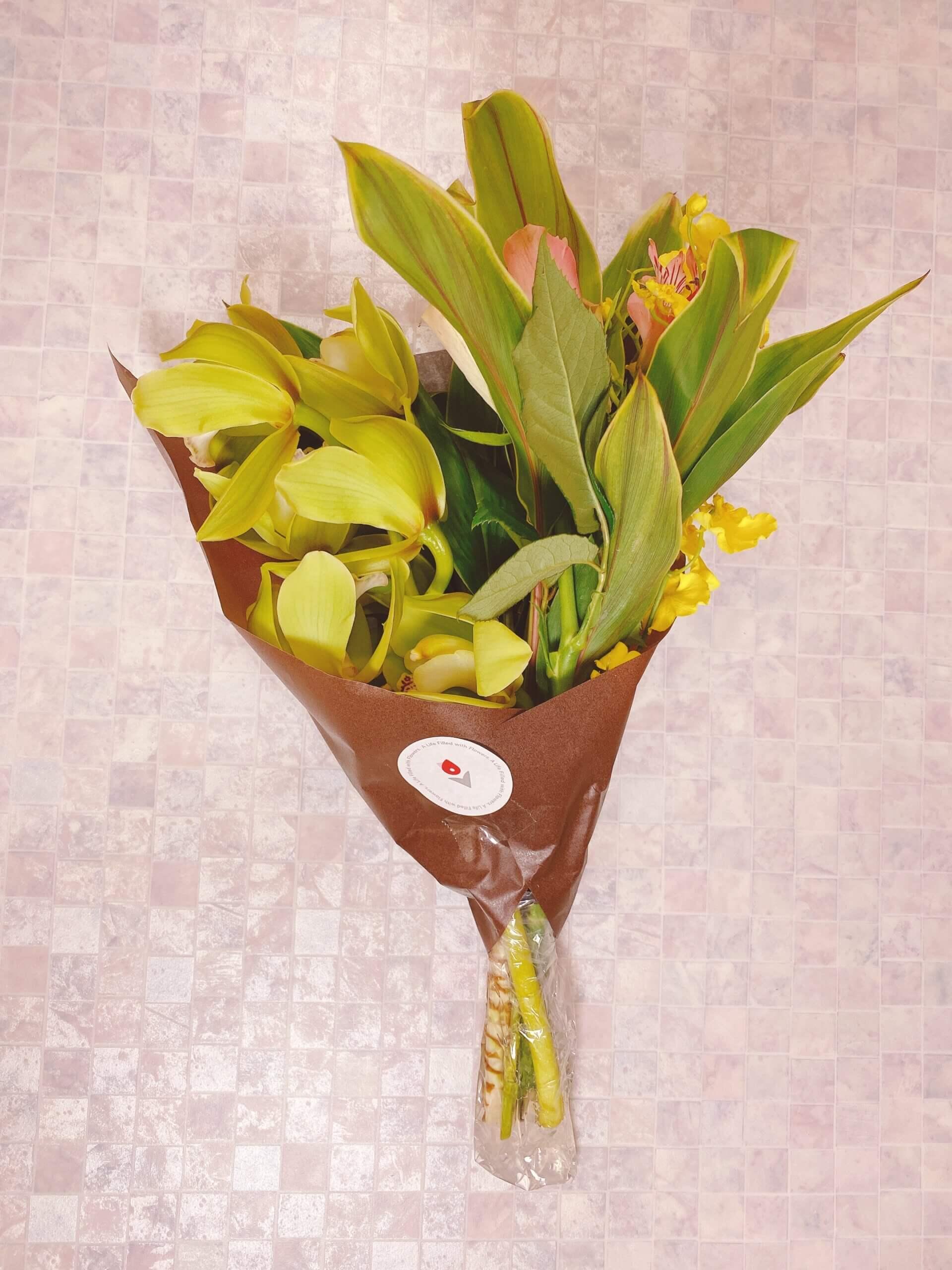 ブルーミーリッチプランの届いたお花
